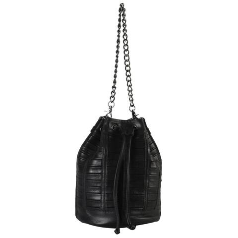 Rimen and Co. Genuine Leather Bucket Drawstring Closure Handbag