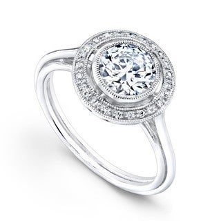 Beverly Kay 18k White Gold 3/5ct TDW Diamond Designer Engagement Ring