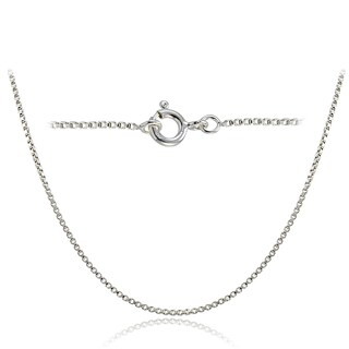 Mondevio High Polished Italian Box Chain Necklace in Lengths 16-30 Inches (2 options available)