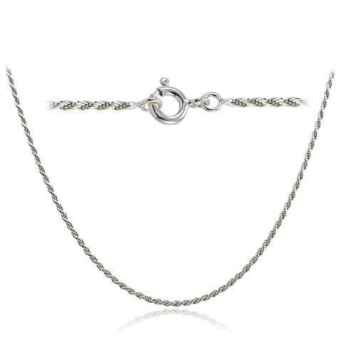 Mondevio High Polished 1.5mm Italian Twisted Rope Chain Necklace in Lengths 16-30 Inches