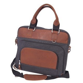 Canyon Outback Jonah 14-inch Wool and Leather Laptop Briefcase