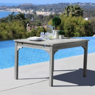 Renaissance Eco-friendly Outdoor Hand-scraped Hardwood Rectangular Garden Table