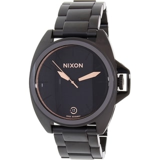 Nixon Men's Black Stainless Steel Anthem A396957 Swiss Quartz Watch