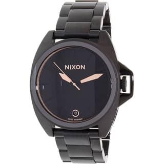 Nixon Men's Black Stainless Steel Anthem A396957 Swiss Quartz Watch|https://ak1.ostkcdn.com/images/products/11366337/P18336939.jpg?impolicy=medium