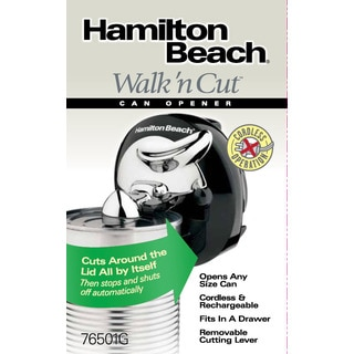 Recertified Hamilton Beach Walk'n Cut Can Opener