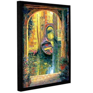 ArtWall 'Haixia Liu's Venice Archway' Gallery Wrapped Floater-framed Canvas