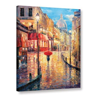 Wall Art 'Haixia Liu's Montmartre Evening' Gallery Wrapped Canvas