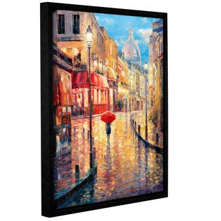 ArtWall 'Haixia Liu's Montmarte Evening' Gallery Wrapped Floater-framed Canvas