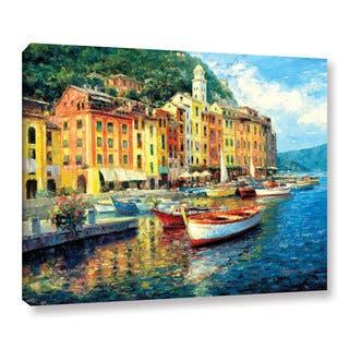 ArtWall Haixia Liu's 'Portofino' Gallery Wrapped Canvas