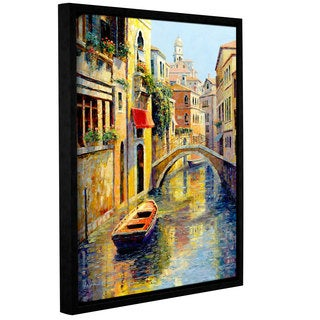ArtWall 'Haixia Liu's Reflection Of Venice' Gallery Wrapped Floater-framed Canvas