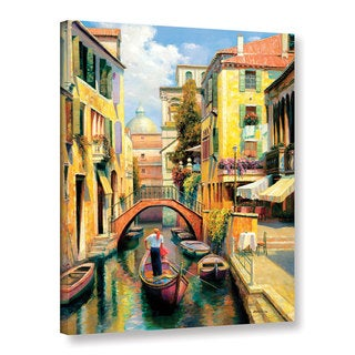 "Haixia Liu's ""Sunday In Venice"" Gallery Wrapped and Unframed Canvas"