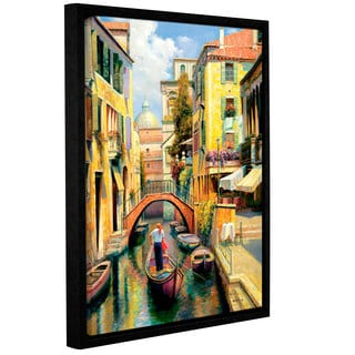 ArtWall 'Haixia Liu's Sunday In Venice' Gallery Wrapped Floater-framed Canvas