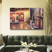 ArtWall Haixia Liu's 'Night Cafe After Rain' Gallery Wrapped Canvas