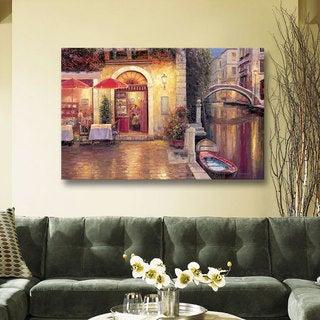 ArtWall Haixia Liu's 'Night Cafe After Rain' Gallery Wrapped Canvas
