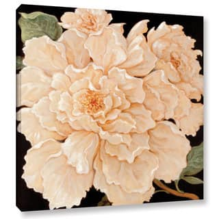 Copper Grove 'Janet Kruskamp's Ivory Peonies' Gallery Wrapped Canvas Wall