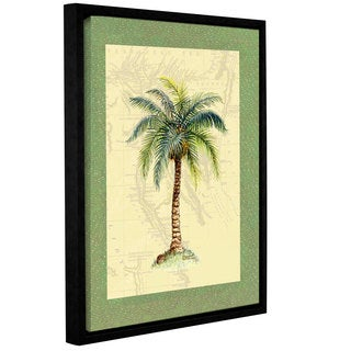 ArtWall 'Janet Kruskamp's Palm Tree #6' Gallery Wrapped Floater-framed Canvas