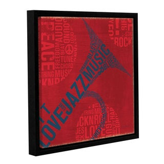 ArtWall 'Michael Mullan's Type Trumpet' Gallery Wrapped Floater-framed Canvas