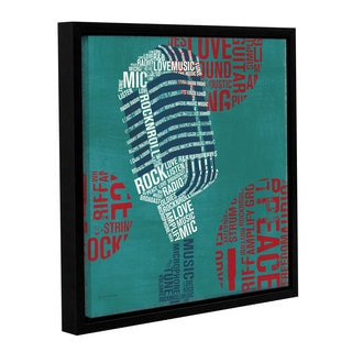 ArtWall 'Michael Mullan's Type Mic' Gallery Wrapped Floater-framed Canvas
