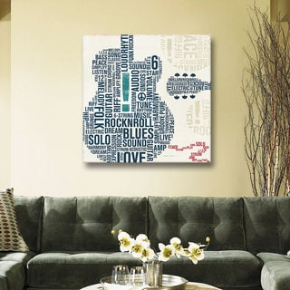 ArtWall 'Michael Mullan's Type Guitar ' Gallery Wrapped Canvas