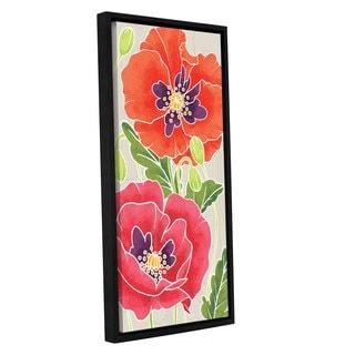 ArtWall 'Elyse DeNeige's Sunshine Poppies I' Gallery Wrapped Floater-framed Canvas