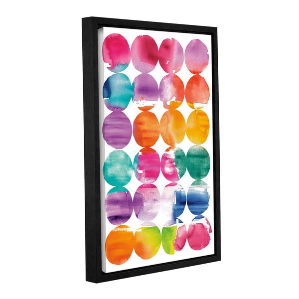 ArtWall 'Elyse DeNeige's Spring Dots' Gallery Wrapped Floater-framed Canvas