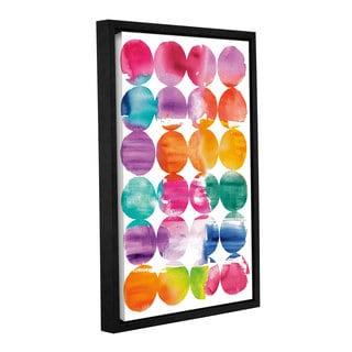 ArtWall 'Elyse DeNeige's Spring Dots' Gallery Wrapped Floater-framed Canvas