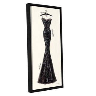 ArtWall 'Emily Adams's Couture Noir Original IV' Gallery Wrapped Floater-framed Canvas