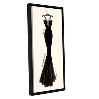 ArtWall 'Emily Adams's Couture Noir Original III' Gallery Wrapped Floater-framed Canvas