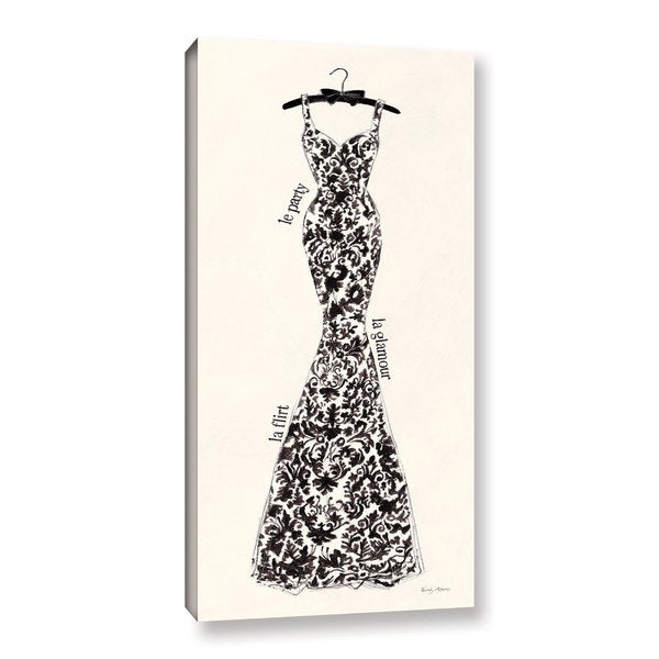 ArtWall 'Emily Adams's Couture Noir Original II' Gallery Wrapped Canvas