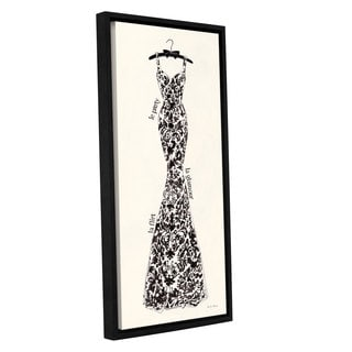 ArtWall 'Emily Adams's Couture Noir Original II' Gallery Wrapped Floater-framed Canvas