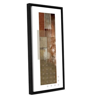 ArtWall 'Pied Piper's Contemporary Three Piece I' Gallery Wrapped Floater-framed Canvas