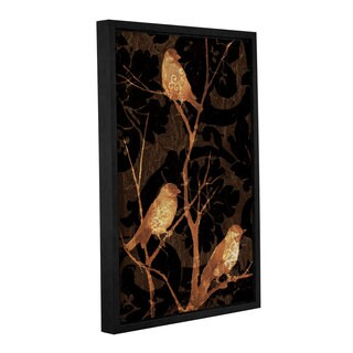 ArtWall 'Pied Piper's Silhouette Birds I' Gallery Wrapped Floater-framed Canvas