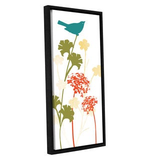 ArtWall 'Pied Piper's Slhouetted Garden II' Gallery Wrapped Floater-framed Canvas