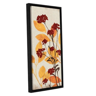 ArtWall 'Pied Piper's Red Orange Fun' Gallery Wrapped Floater-framed Canvas