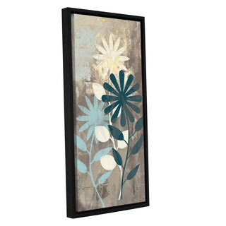 ArtWall 'Pied Piper's Blue Flower Mess' Gallery Wrapped Floater-framed Canvas