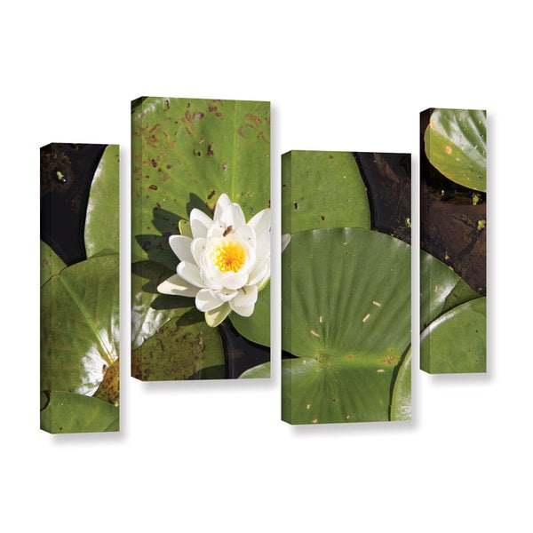 ArtWall 'Cody York's Lily Pad' 4 Piece Gallery Wrapped Canvas Staggered Set - Multi