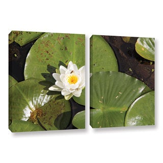ArtWall 'Cody York's Lily Pad' 2 Piece Gallery Wrapped Canvas Set