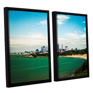 ArtWall 'Cody York's Cleveland 22' 2 Piece Floater Framed Canvas Set