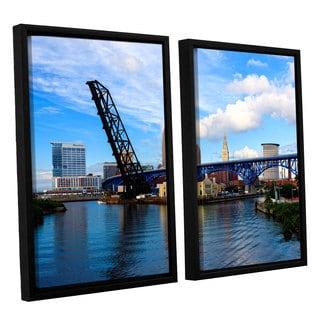 ArtWall 'Cody York's Cleveland 12' 2 Piece Floater Framed Canvas Set
