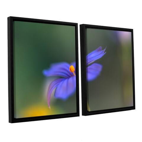 ArtWall 'Kathy Yates's Wildflower Dance' 2 Piece Floater Framed Canvas Set - Multi
