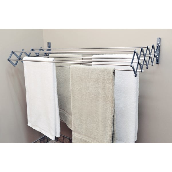 Smart dryer expandable accordion indoor outdoor drying for Support a linge mural