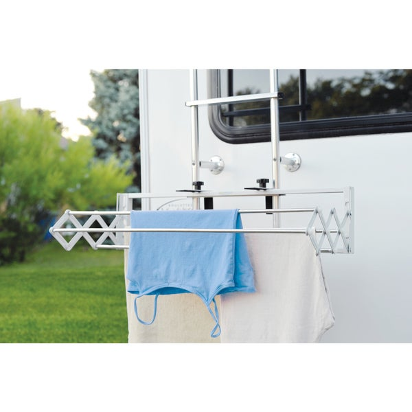 Smartdryer Indoor/outdoor Retractable Clothes Drying Rack-For your RV, Balcony, Pool side or Laundry room - COMPACT VERSION