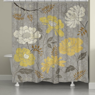 Laural Home Gold Petals Shower Curtain