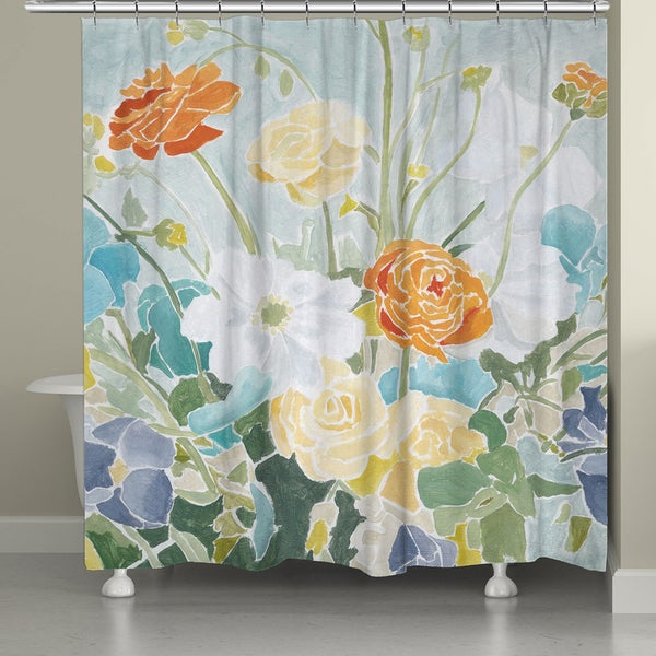 Shop Laural Home Springtime Garden Shower Curtain - Free Shipping ...