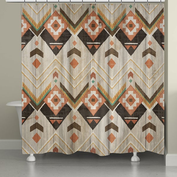 Shop Laural Home Natural Aztec Shower Curtain