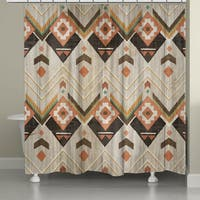 Laural Home Natural Aztec Shower Curtain