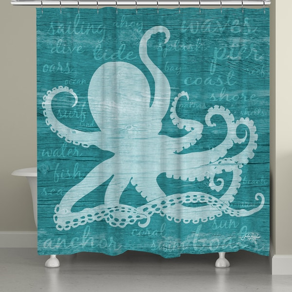 Shop Laural Home Nautical Octopus Shower Curtain On Sale