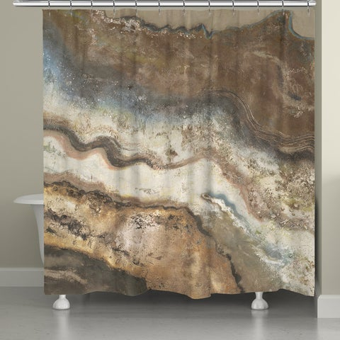 Laural Home Rock Flow Shower Curtain