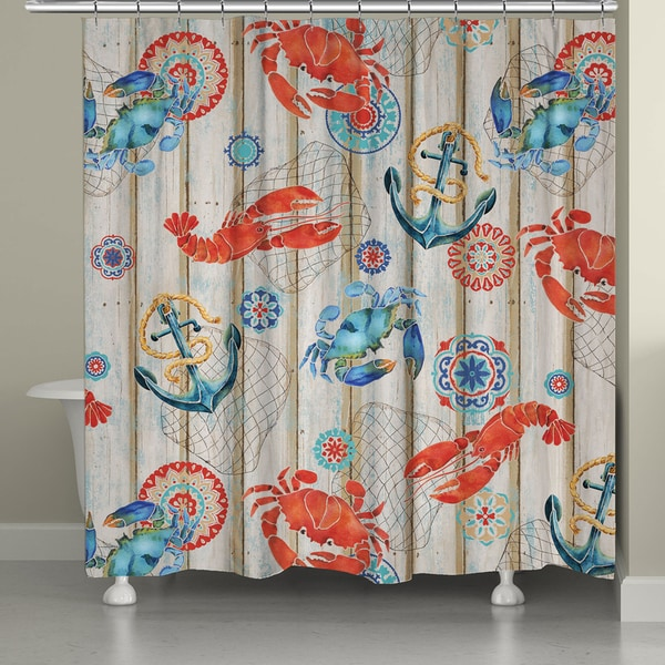 Laural Home Summer Catch Shower Curtain