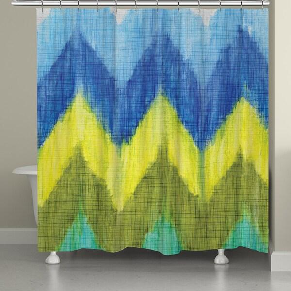 Laural Home Bright Chevron Shower Curtain